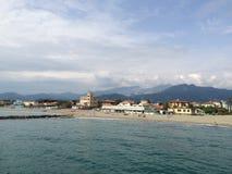 Marina di Massa Arkivbild