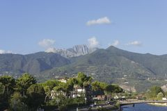 Tuscany Apuan Alps Royalty Free Stock Photography