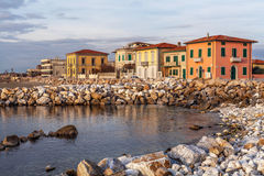 Marina di Pisa, Italië stock foto's