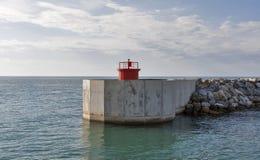Marina di Pisa port beacon Stock Image