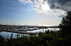 Marina di Ragusa Harbour is located in the most southern part of Italy, in a strategic position in the middle of the Mediterrean S. Marina di Ragusa Harbour is Stock Image