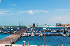 Marina di Ragusa, Italy - June 02, 2010: The touristic port Stock Image