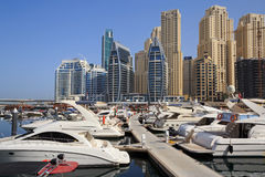 Marina district in Dubai Royalty Free Stock Photo