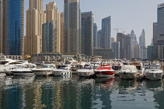 Marina district in Dubai Royalty Free Stock Images
