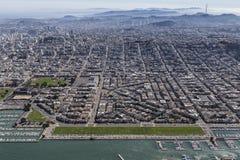 Marina District San Francisco California Aerial Royalty Free Stock Photo