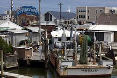 Marina district in Sea Ilse City, New Jersey Stock Image