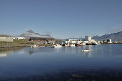 Marina of Djupivogur town, Iceland. Royalty Free Stock Photo