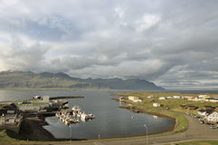 Marina of Djupivogur town, Iceland. Stock Photography