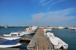 Marina docks Stock Image