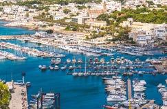 Marina dokował łodzi Santa Maria Leuca Apulia Salento region Lecka Italy zdjęcia royalty free