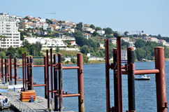 Marina on Douro river Royalty Free Stock Image