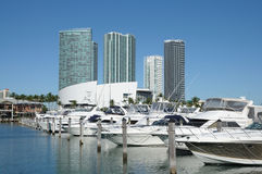 Marina in Downtown Miami Royalty Free Stock Image