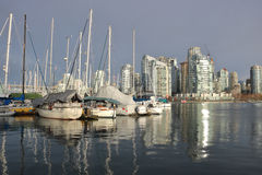 Marina and Downtown Vancouver, Canada Royalty Free Stock Photos