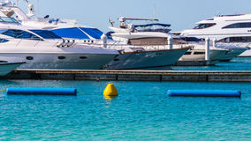 Marina in Dubai, closeup Royalty Free Stock Image
