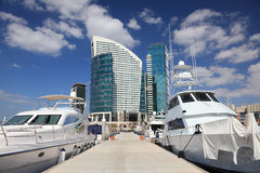 Marina at the Dubai Festival City Royalty Free Stock Photography