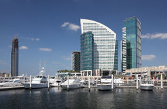 Marina at Dubai Festival City Royalty Free Stock Images