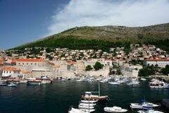 Marina at Dubrovnik, Croatia royalty free stock images