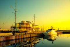 Marina in early morning light Stock Photography