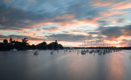 Marina early in the morning royalty free stock photos