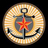 Marina ed emblema di corp marino Immagine Stock Libera da Diritti