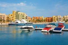 marina EL Gouna, Ägypten Lizenzfreies Stockfoto