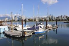 Marina on English Bay, Vancouver. A marina on English Bay in the Vancouver suburb of Kitsilano Royalty Free Stock Image