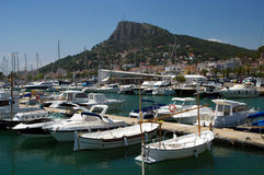 The marina in the Estartit town Stock Image