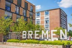 Marina Europahafen Bremen - accueil vers Brême Images libres de droits