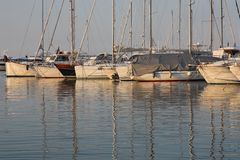 Marina in the evening Royalty Free Stock Images