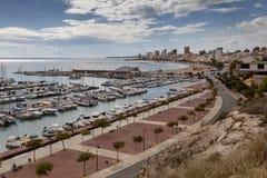 Marina för El Campello arkivbilder