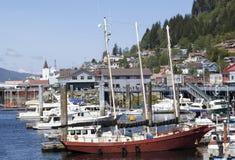 Marina för stad för Alaska ` s Ketchikan Royaltyfria Foton