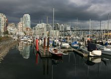 Marina in False Creek Stock Photo