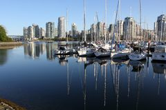 Marina in False Creek, Vancouver Royalty Free Stock Photos