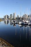 Marina in False Creek, Vancouver vertical Stock Photography