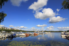 Marina in Finland Stock Photo