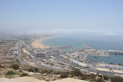 The Marina and fishing port in Agadir Morocco. The city of Agadir in Morocco, top view Royalty Free Stock Images