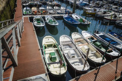 Marina and fishing port stock image