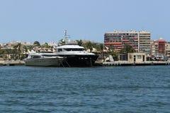 Marina of the fishing village of Santa Pola, Alicante, Spain royalty free stock photos