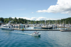 Marina at Friday Harbor on San Juan Island Stock Images