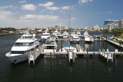 A marina in Ft. Lauderdale. On the intracoastal Royalty Free Stock Photo