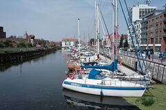 Marina in Gdansk Royalty Free Stock Image