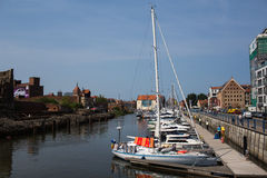 Marina in Gdansk Stock Image