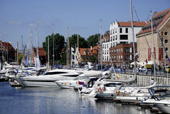 Marina of Gdansk in Poland Royalty Free Stock Image