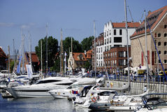 Marina of Gdansk in Poland Royalty Free Stock Photo