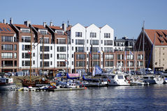 Marina of Gdansk in Poland Royalty Free Stock Photos