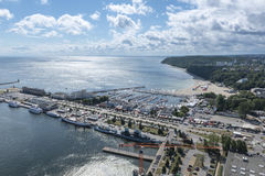 Marina in Gdynia Stock Photography