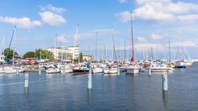 Marina in Gdynia Royalty Free Stock Photo