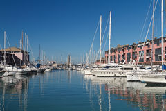 Marina in Genoa. Italy Stock Photo