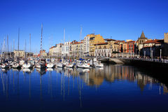 Marina Gijon, Asturias Royalty Free Stock Images