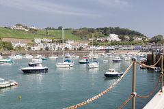Marina in gorey town, channel islands Royalty Free Stock Photos